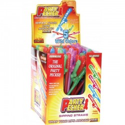 2101D PARTY PECKER SIPPING STRAWS COLORS